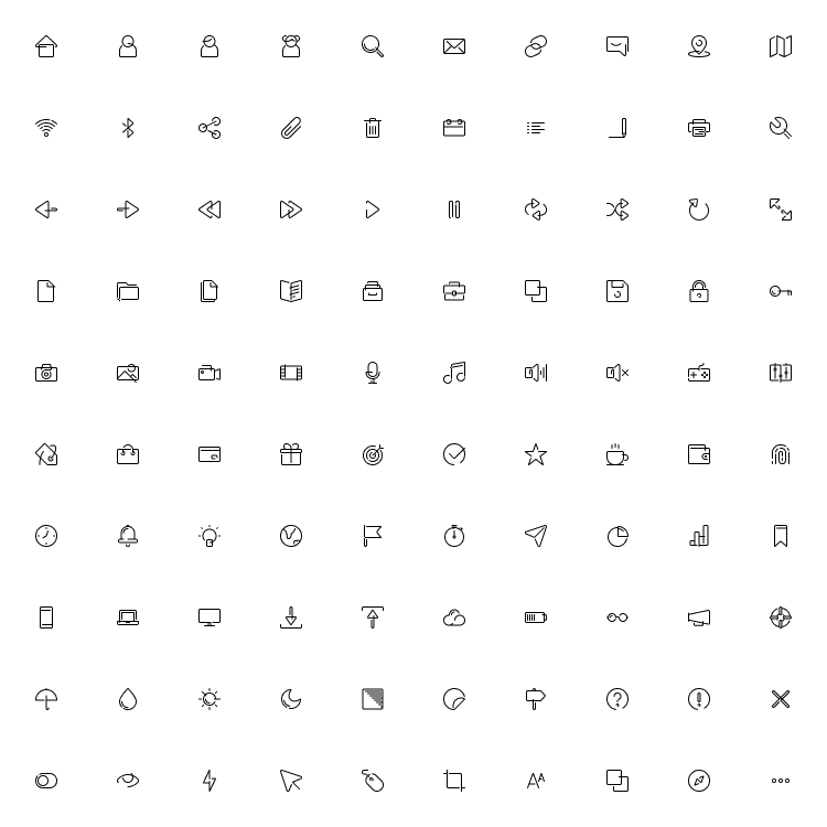 100 Essential Icon Pack Free | TemplateDuo