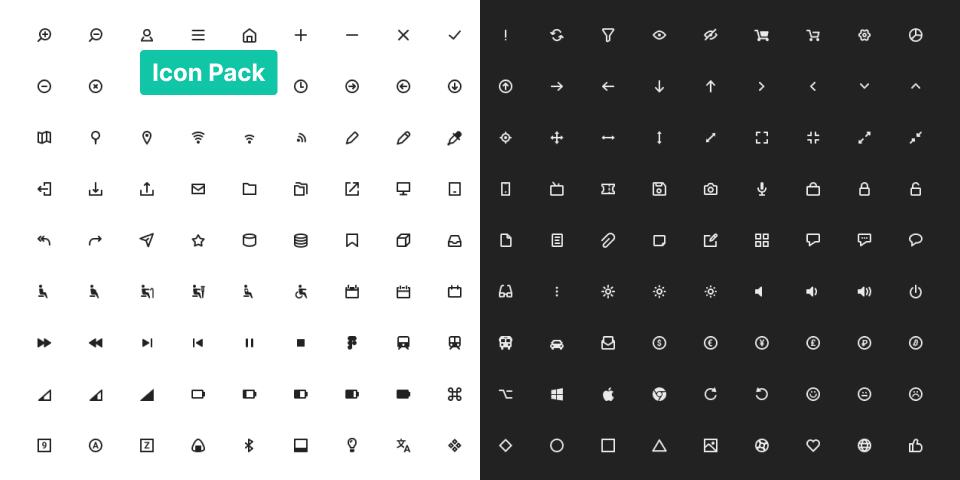 180 Icon Pack Light and Dark
