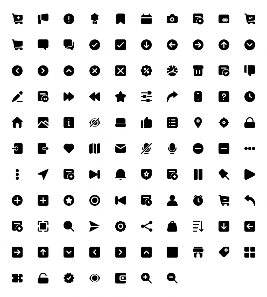 Basic Icon Library Free   TemplateDuo