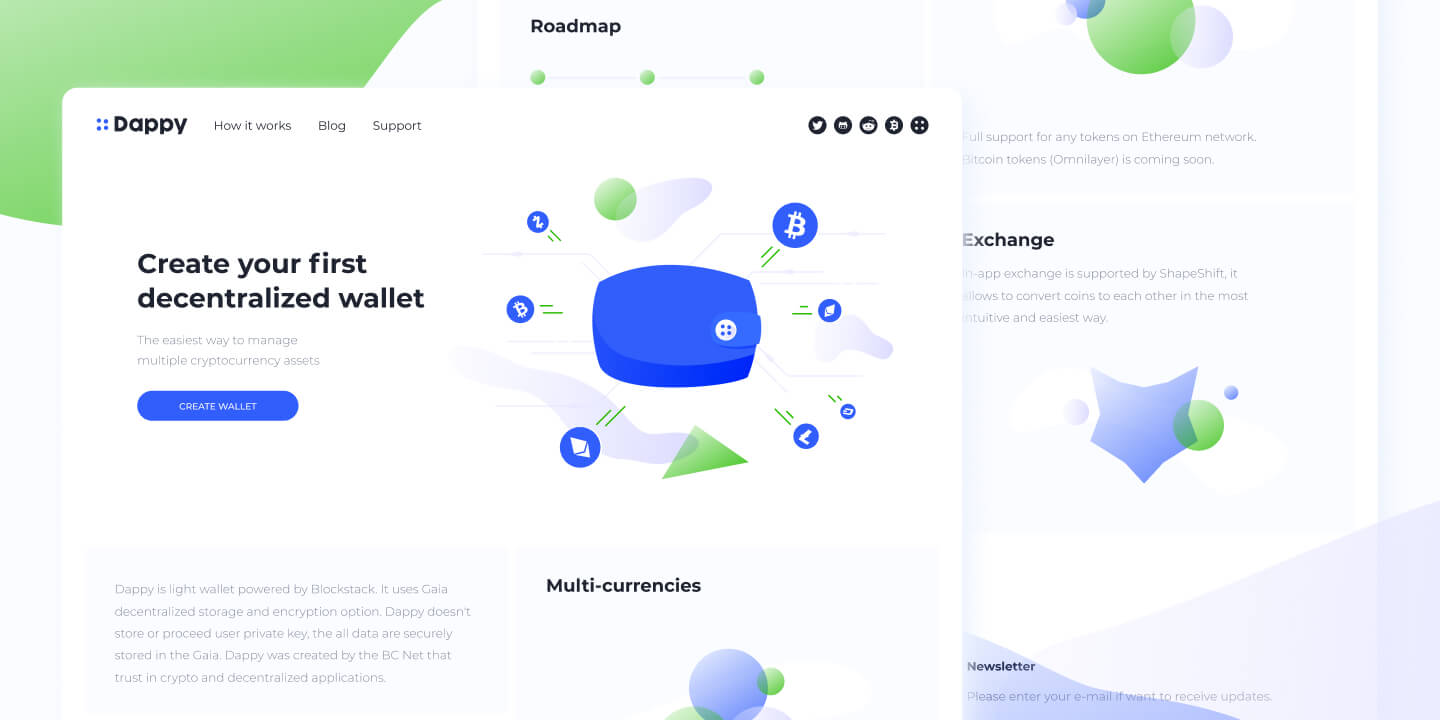 Cryptocurrency Landing Page Design Free