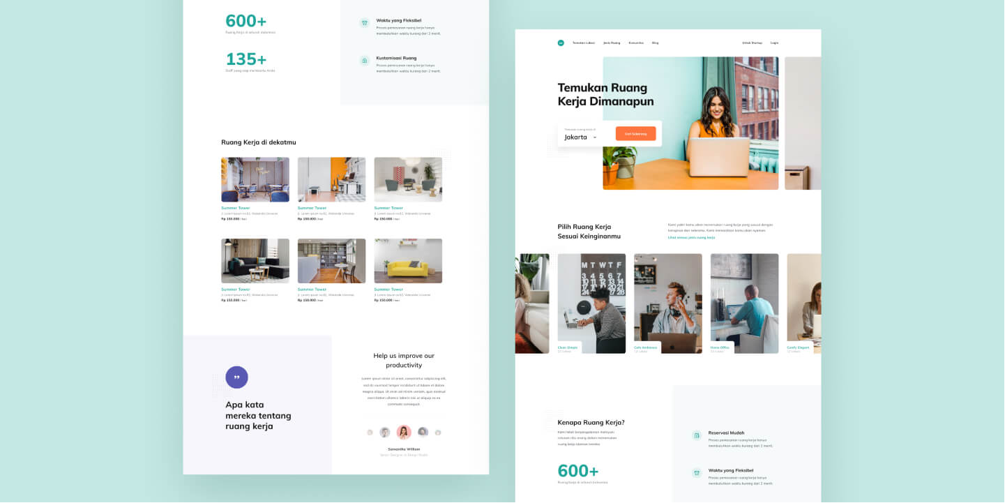 Coworking Space Landing Page Design