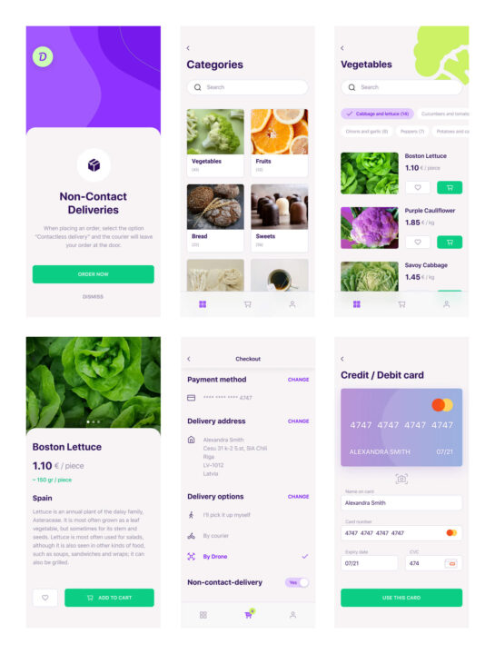 Delivery App UI Kit Free   TemplateDuo