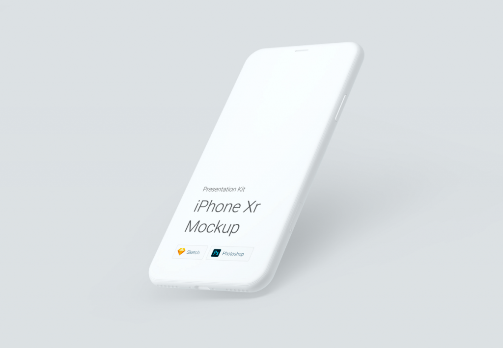Free iPhone XR Mockup For Sketch | TemplateDuo