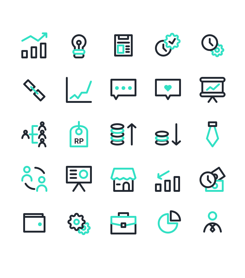 Business and Management Icons Free | TemplateDuo