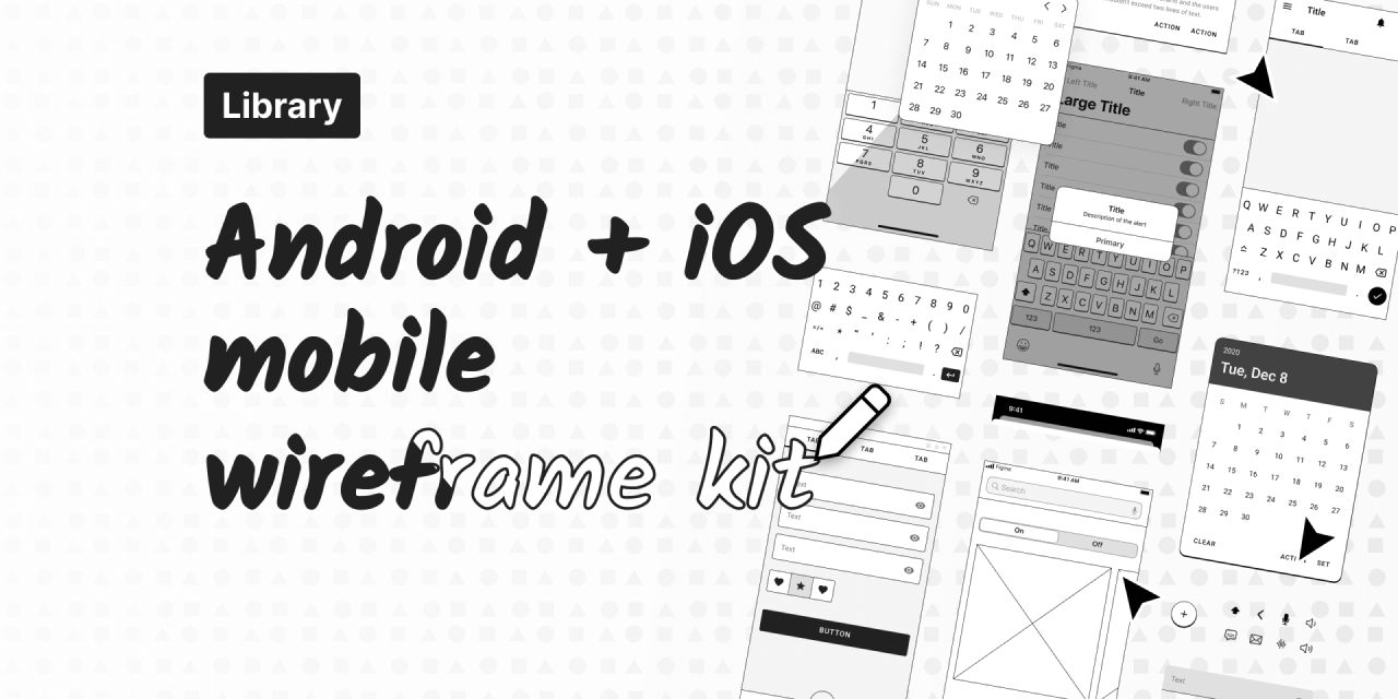 Mobile App Wireframe Template Free