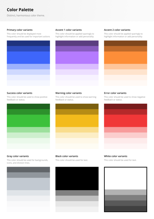 UI Prep Style Guide Free | TemplateDuo