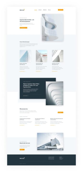 Weiss Landing Page Design Free | TemplateDuo