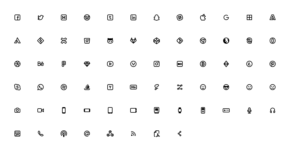 Zest Social Icons Free | TemplateDuo