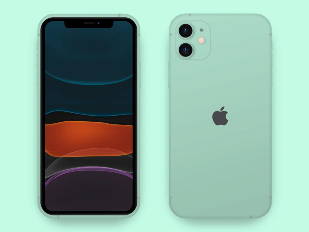 iPhone 11 Simple Mockup Free For Adobe XD | TemplateDuo